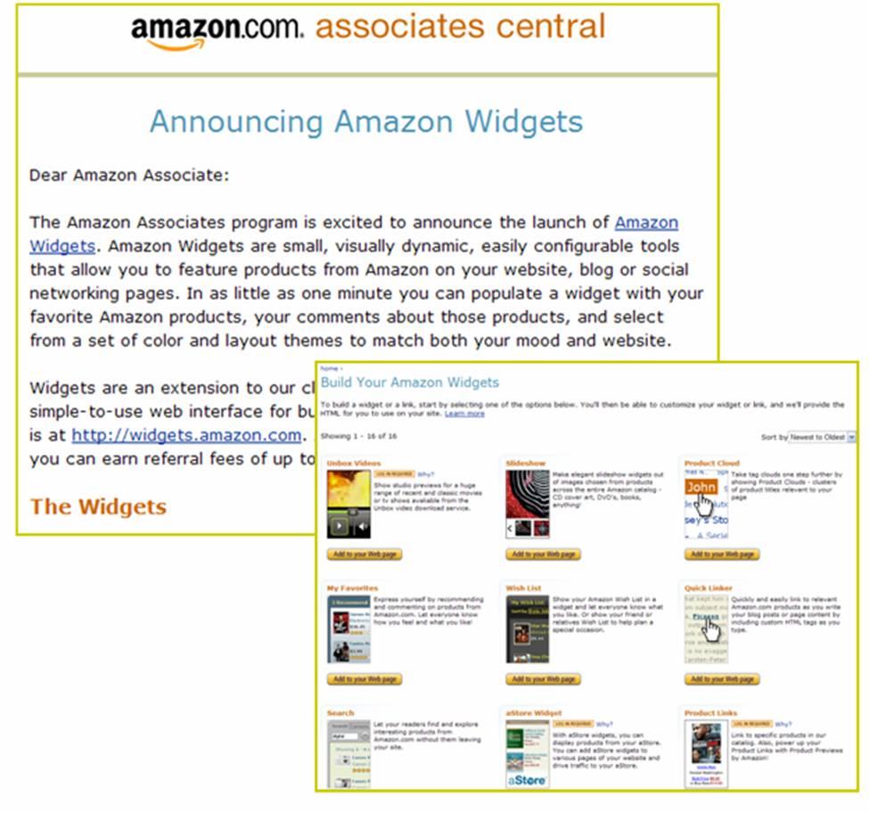 Amazon Widgets