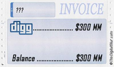 Digg $300MM?